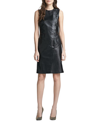 Kuval Sleeveless Leather Dress