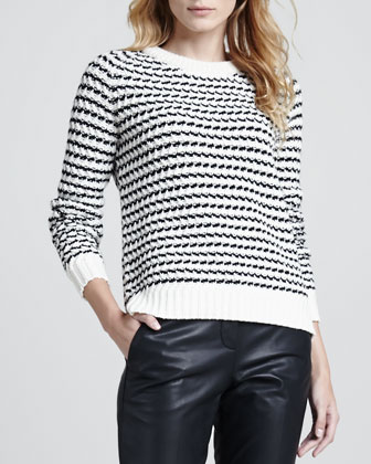 Innis B Striped Knit Sweater