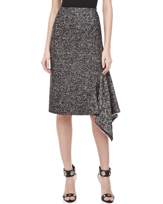 Herrinbone Assymetric Skirt