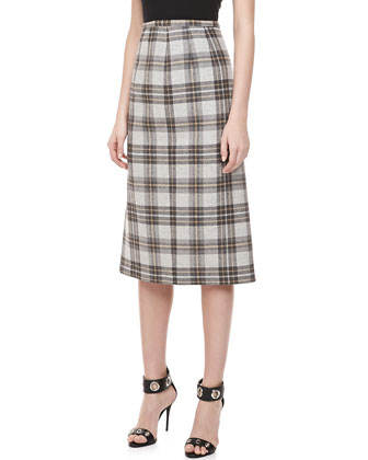 Dorset Plaid Wool Skirt