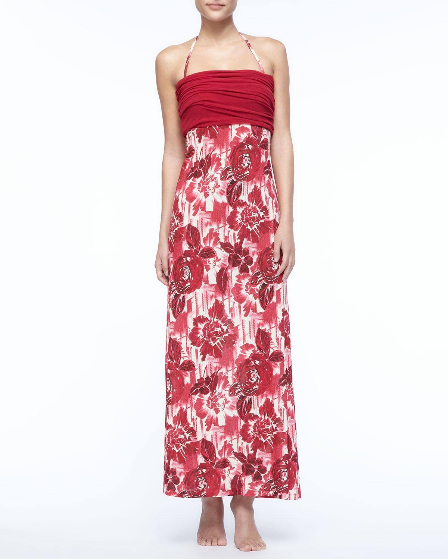 Womens Floral Dress/Skirt Coverup   Jean Paul Gaultier   Porpora 360 (SMALL)