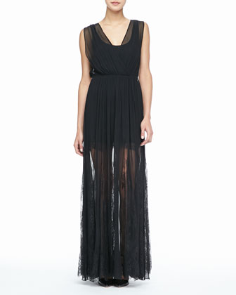 Sami Sheer-Overlay Dress
