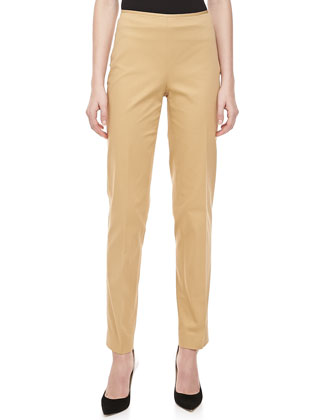 Relaxed Stretch-Twill Pants, Sandstone