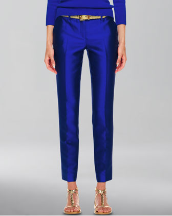 Samantha Slim Shantung Pants