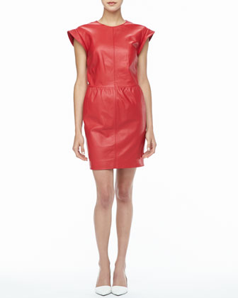 Antonia Relaxed Leather Dress