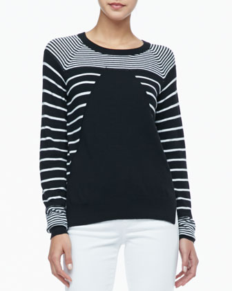 Grayson Striped Knit Sweater