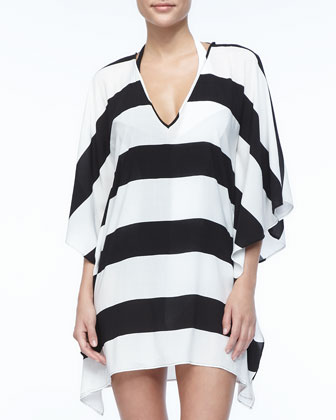 Jambo Striped V-Neck Caftan