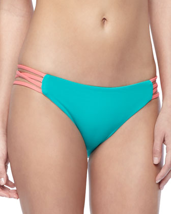 Low Down Strap-Side Swim Bottom