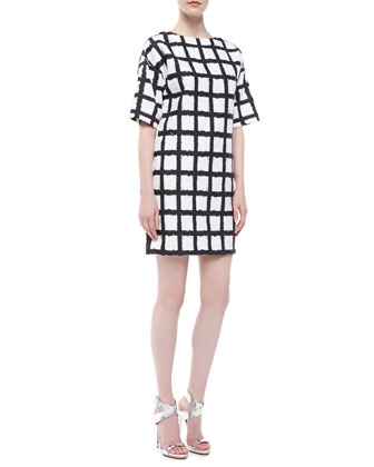 Ikat Broadcloth Shift Dress