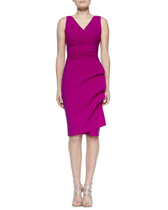 Becky Sleeveless Cocktail Dress, Cyclamen
