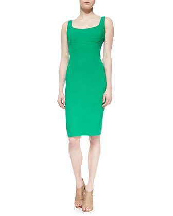 Sleeveless Sheath Dress, Emerald