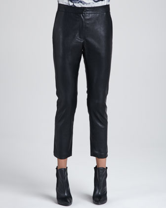 Wilson Faux-Leather Trousers