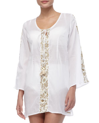 Eden Embroidered Cotton Coverup