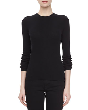 Featherweight Cashmere Sweater, Black