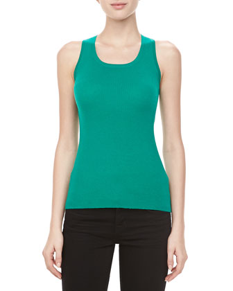 Ribbed Cashmere Tank