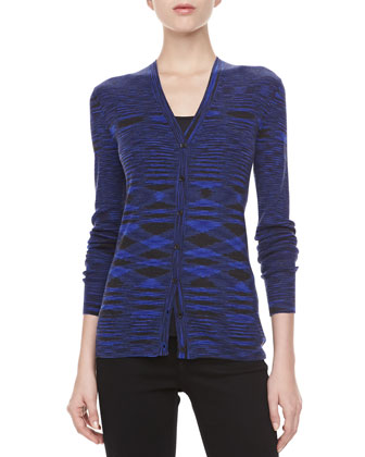 Space Dye Cashmere Cardigan