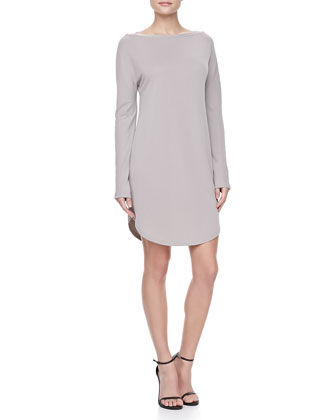 Boat-Neck Jersey Dress