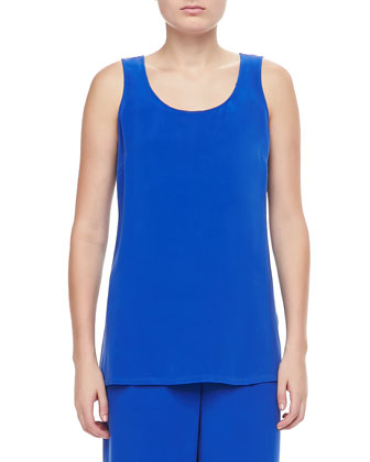Longer Silk Crepe Tank, Women's