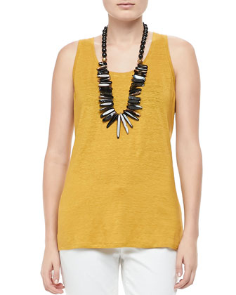 Linen Jersey Scoop-Neck Tank