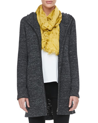 Terrazzo Hooded Jacket, Cotton Tee, Shadow-Tinted Modal Scarf & French ...