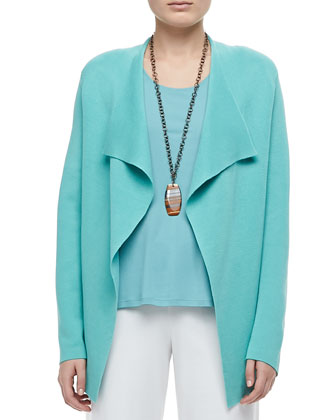 Silk-Cotton Interlock Jacket, Stretch Silk Jersey Tank & Modern Wide-Leg ...