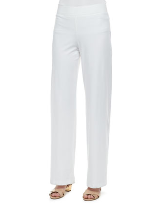 Modern Wide-Leg Pants, White, Women's