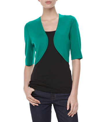 Featherweight Cashmere Shrug, Emerald