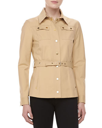 Broadcloth Utility Jacket, Sandstone