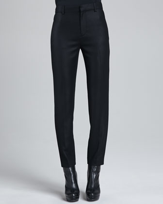 Jennie Cropped Crepe Pants