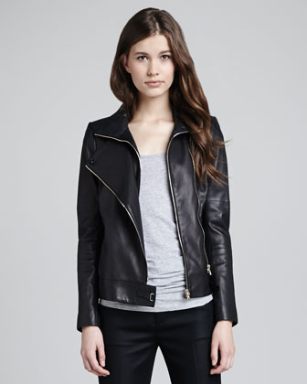 Karle Leather Moto Jacket