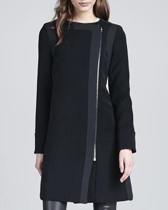 Florence Asymmetric-Front Coat