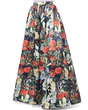Sleeveless Slub Tee & Tina Floral Ball Gown Skirt