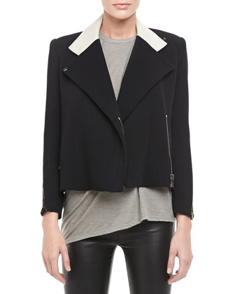 Performa Crepe Cropped Jacket