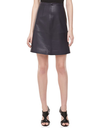 Plonge Leather Banded Skirt
