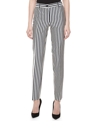 Samantha Striped Shantung Pants