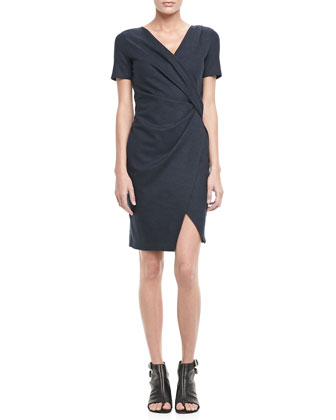 Draped Wool Drap Dress
