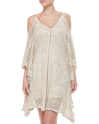 Chain-Trim Crochet Coverup