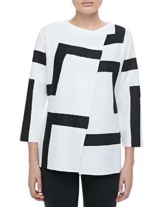 Abstract Modern Jacket, Petite
