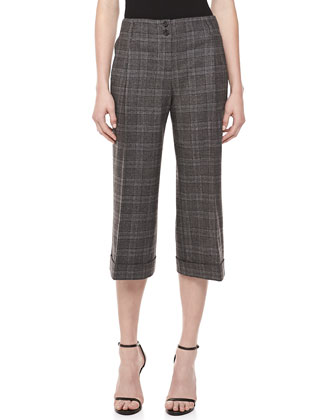Lyndon Plaid Gaucho Pants, Banker