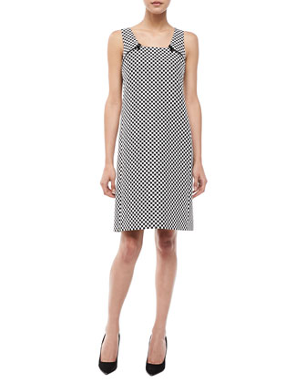 Check Jacquard Mod Shift Dress