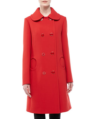 Duvatine Circle-Pocket Coat