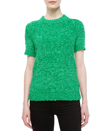 Techno Boucle Knit Top