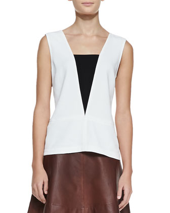 Veda Paneled Sleeveless Top