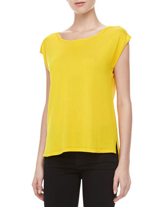 Silk High-Low Top, Sun