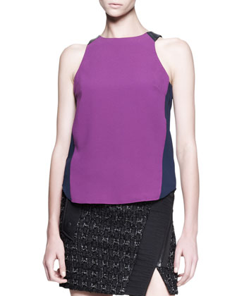 Clemence Bicolor Zip Tank and Flight Boucle Wrap Skirt