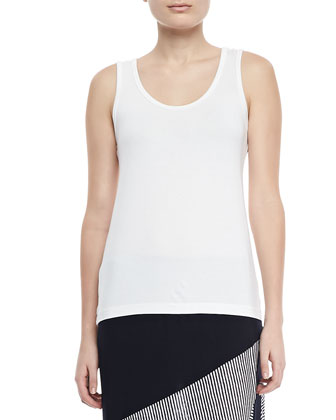 Slim Scoop-Neck Jersey Tank
