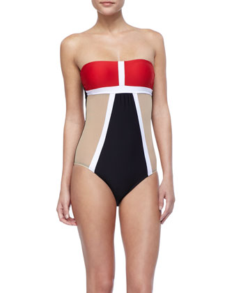 Mrs. Bond Colorblock Maillot