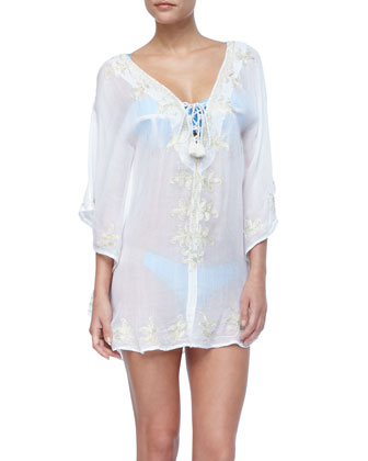 Marie Embroidered Tunic Coverup