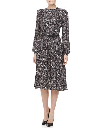 Appaloosa Silk Georgette Printed Dress