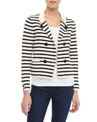 Striped Knit Sailor Blazer